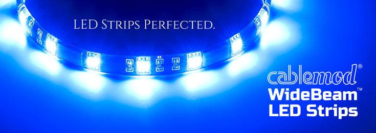 Ленты CableMod WideBeam LED рассчитаны на подачу питания по разъему SATA