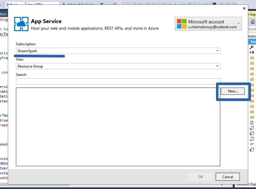 Как использовать БД SQL в студенческом Microsoft AZURE от Dreamspark - 16