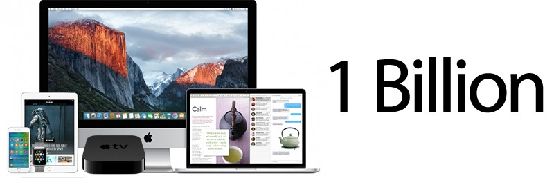 Apple заявила об одном миллиарде активных устройств