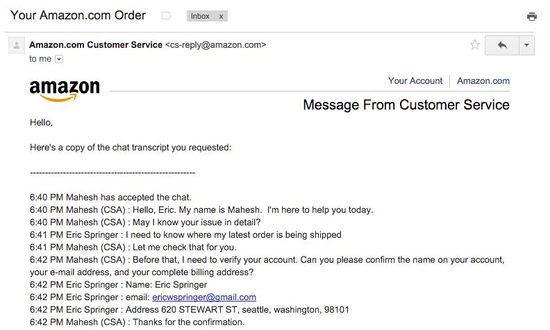 Служба поддержки клиентов, бэкдор от Amazon - 3