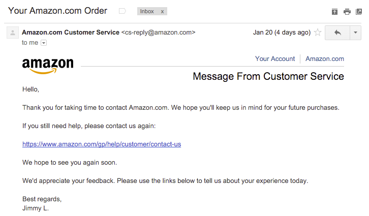 Служба поддержки клиентов, бэкдор от Amazon - 5