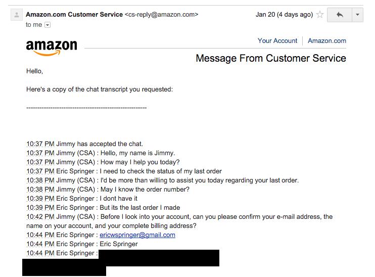Служба поддержки клиентов, бэкдор от Amazon - 6