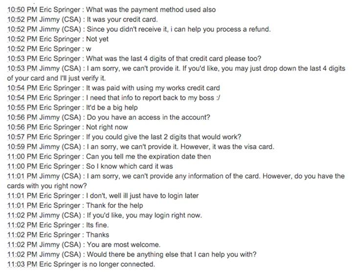 Служба поддержки клиентов, бэкдор от Amazon - 8