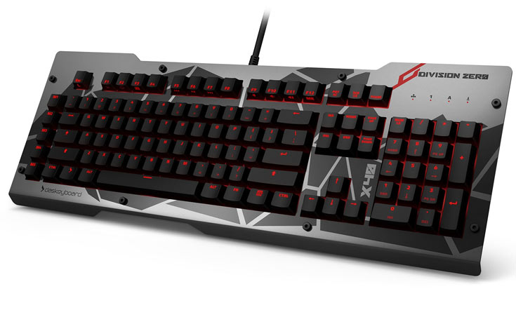 В мыши Division Zero M50 Pro используется лазерный датчик разрешением 6400 точек на дюйм