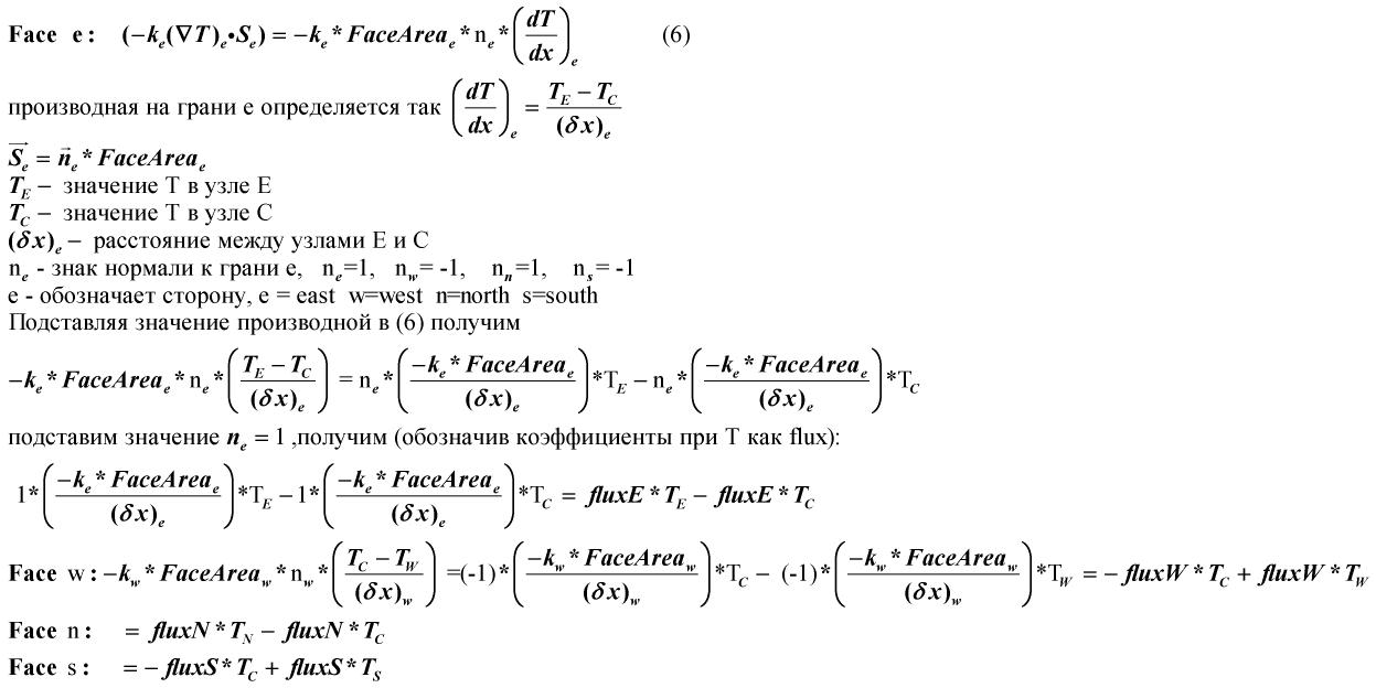 Метод Finite Volume — реализация на примере теплопроводности - 9