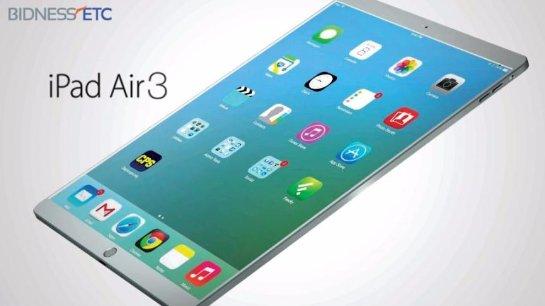 Новые данные о новинке iPad Air 3