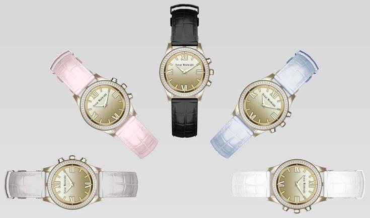 Предусмотрен выпуск часов в стальном корпусе серебристого цвета и с позолотой