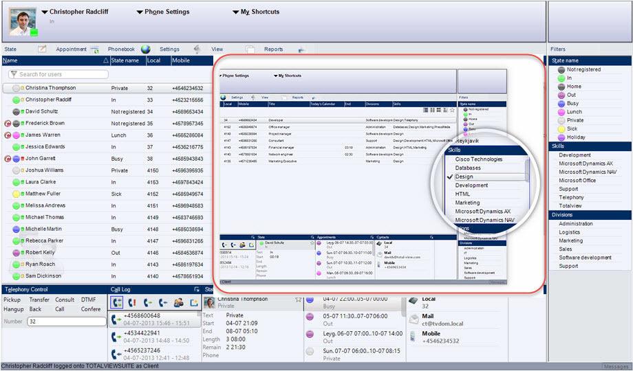 TotalView расширяет возможность контроля статусов для IP АТС 3CX Phone System - 4