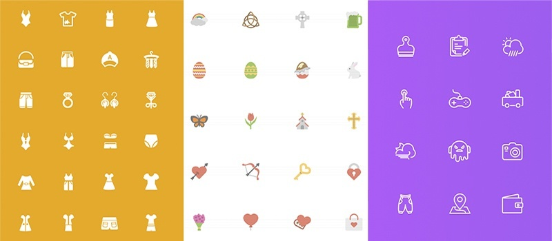 Squid Solid, Flat and Line Icons
