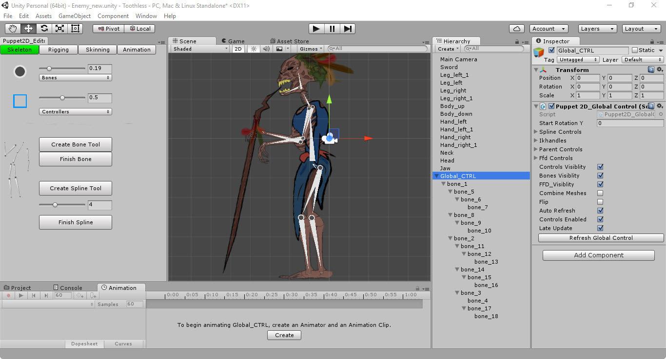 Скелетная 2D-анимация в Unity с помощью плагина Puppet2D - 10