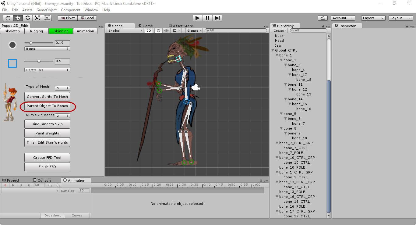 Скелетная 2D-анимация в Unity с помощью плагина Puppet2D - 12
