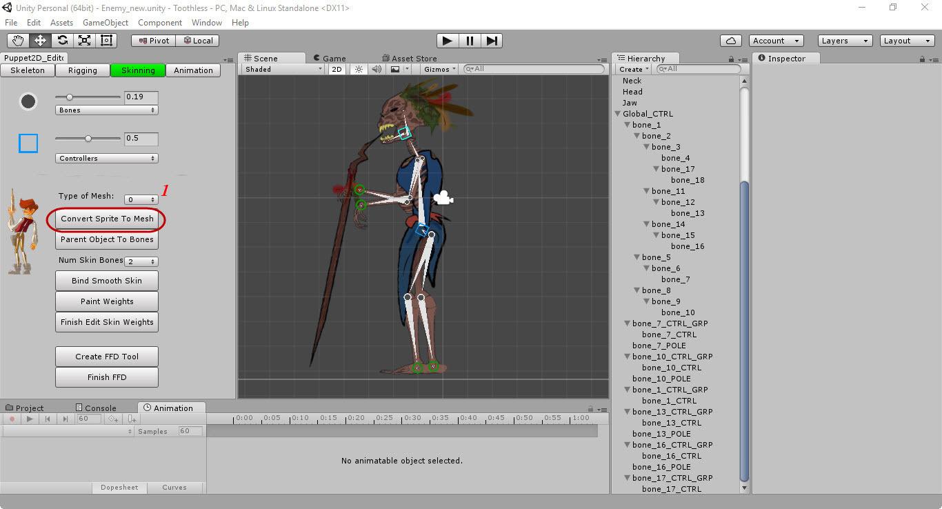 Скелетная 2D-анимация в Unity с помощью плагина Puppet2D - 13