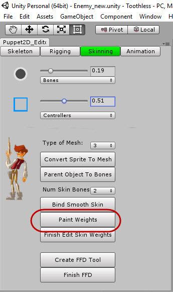 Скелетная 2D-анимация в Unity с помощью плагина Puppet2D - 15