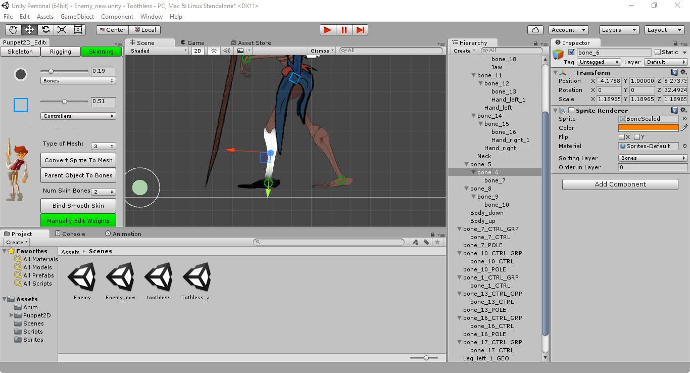 Скелетная 2D-анимация в Unity с помощью плагина Puppet2D - 16