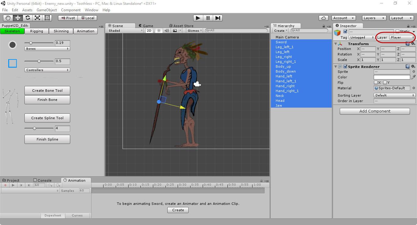 Скелетная 2D-анимация в Unity с помощью плагина Puppet2D - 4