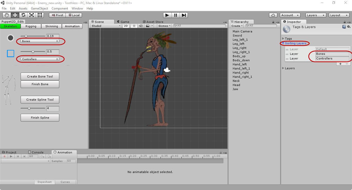 Скелетная 2D-анимация в Unity с помощью плагина Puppet2D - 5