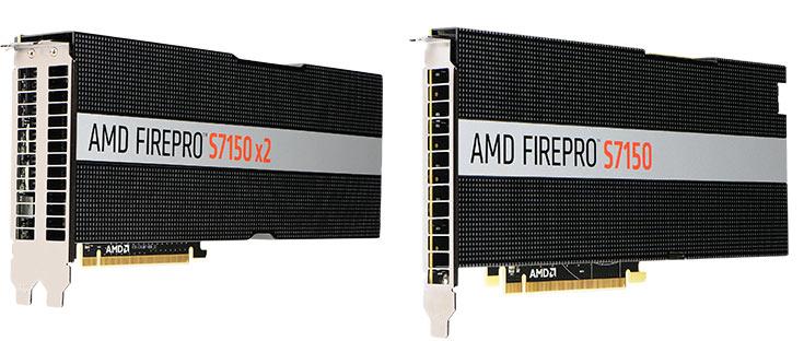 Серверные графические ускорители AMD FirePro S7150 и AMD FirePro S7150 x2 поддерживают технологию MxGPU