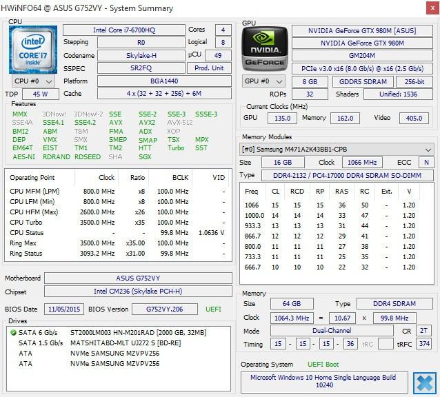 Обзор игрового ноутбука G752VY - 7