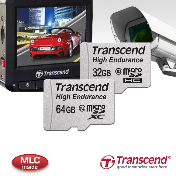 Новые карты памяти Transcend High Endurance microSDHC/SDXC созданы для видеорегистраторов и камер слежения