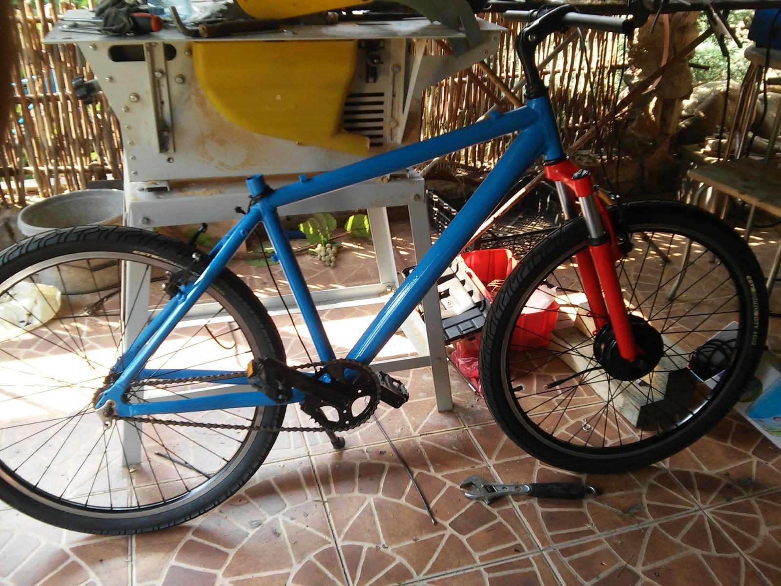 Новая жизнь бюджетного горного велосипеда, превращение в электричку - 19
