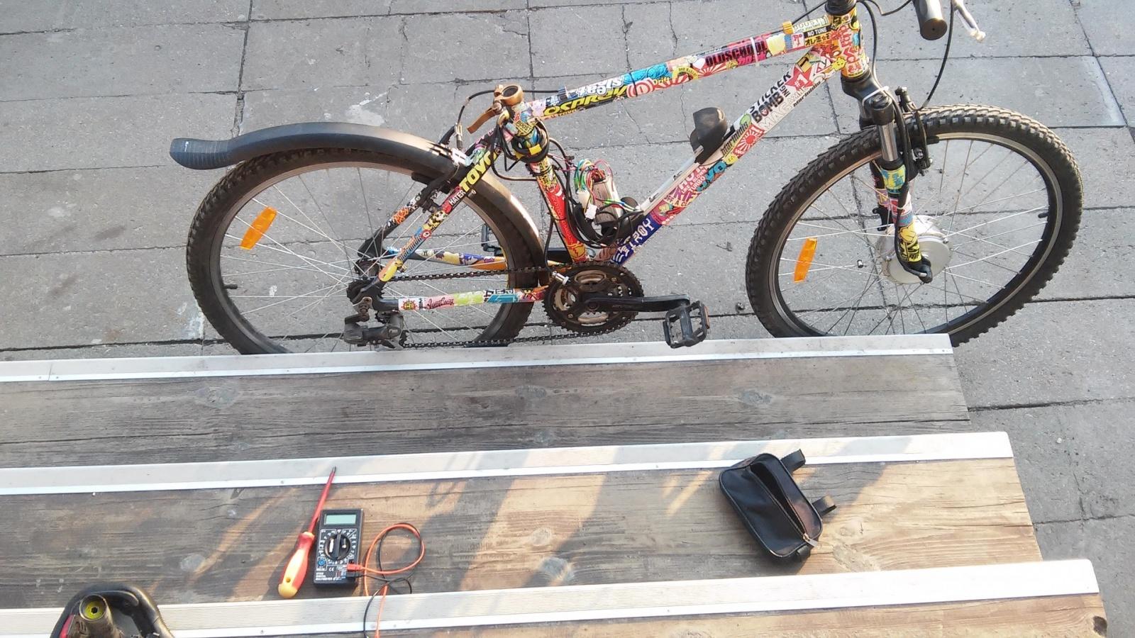 Новая жизнь бюджетного горного велосипеда, превращение в электричку - 20
