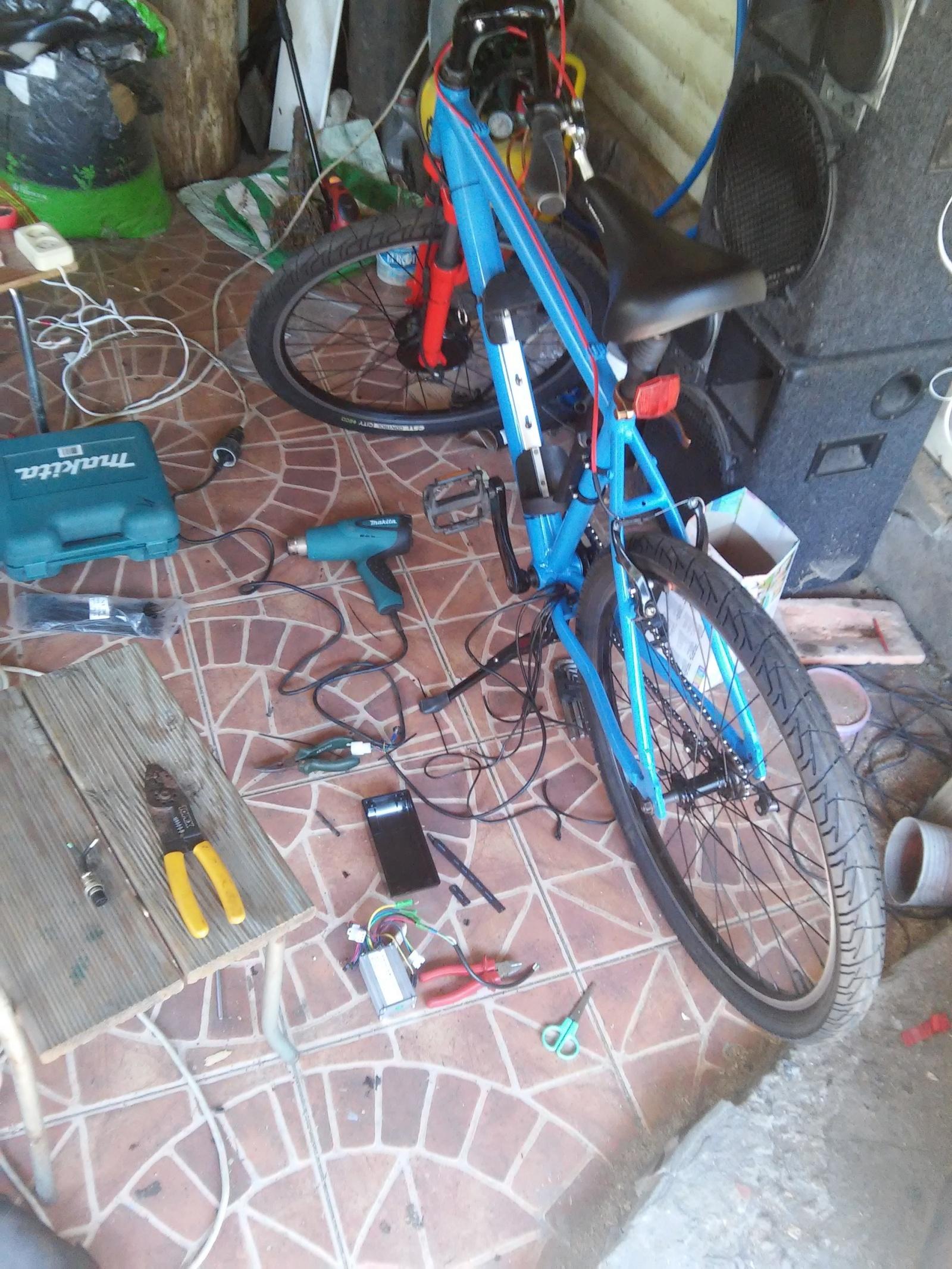 Новая жизнь бюджетного горного велосипеда, превращение в электричку - 21