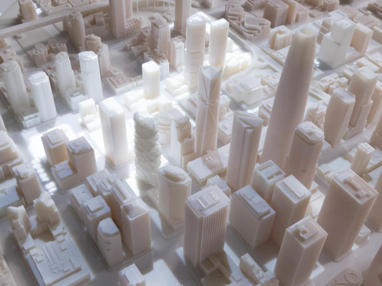 Самая масштабная трёхмерная модель города, распечатанная на 3D-принтере - 2
