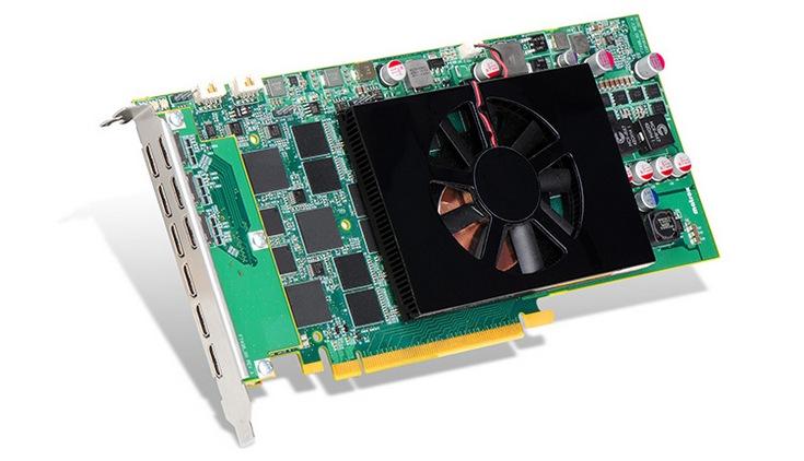 Видеокарта Matrox C900 оснащена девятью портами mini-HDMI