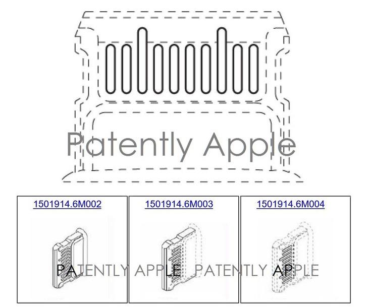 В одном патенте показано расположение разъема, в трех других — варианты конструкции самого разъема
