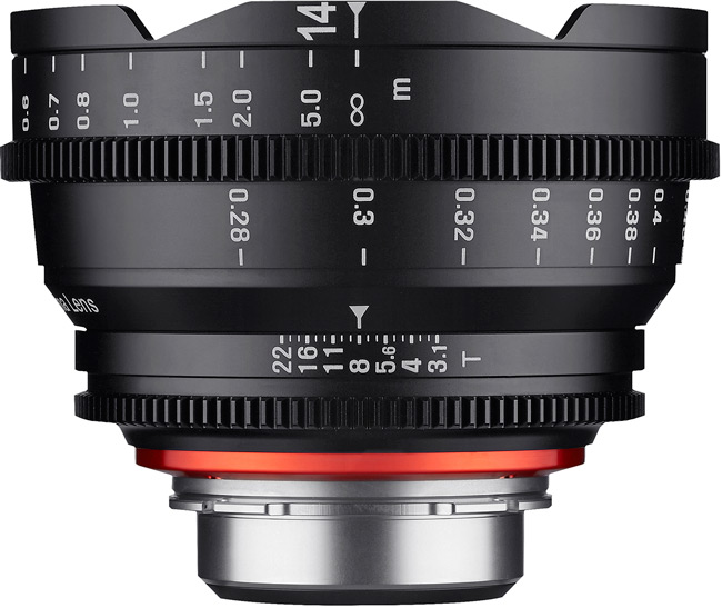 Продажи объективов Xeen 14mm T3.1 и 35mm T1.5 по всему миру должны начаться в марте