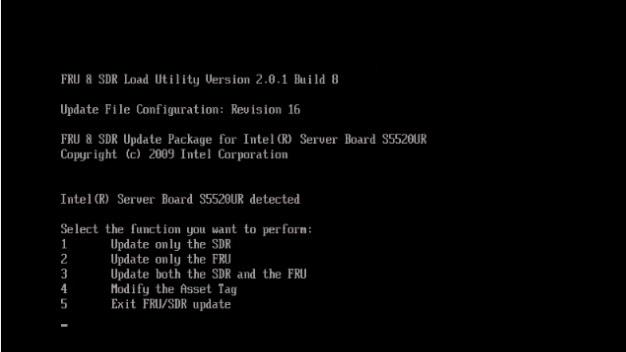 Обновление FRUSDR для оптимальной производительности сервера (платформа INTEL) - 13