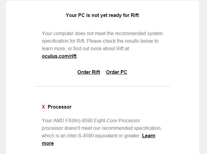 AMD опубликовала список процессоров, совместимых с Oculus