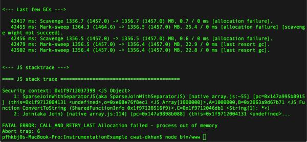 Понимание сборки мусора и отлов утечек памяти в Node.js - 7