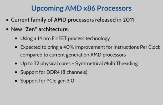 Процессоры AMD Zen будут поддерживать одновременную многопоточность