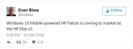 В конфигурацию HP Elite x3 войдет 1 ГБ оперативной памяти