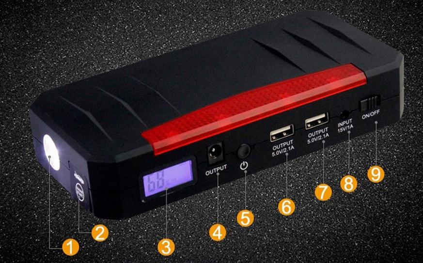 Заряд на любой случай жизни или пусковое устройство V5 Car Jump Starter 21000mah - 26