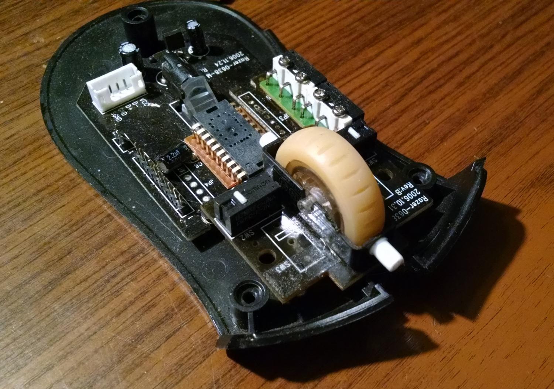 Модернизация мыши — добавление наклонов колеса, замена электроники - 4