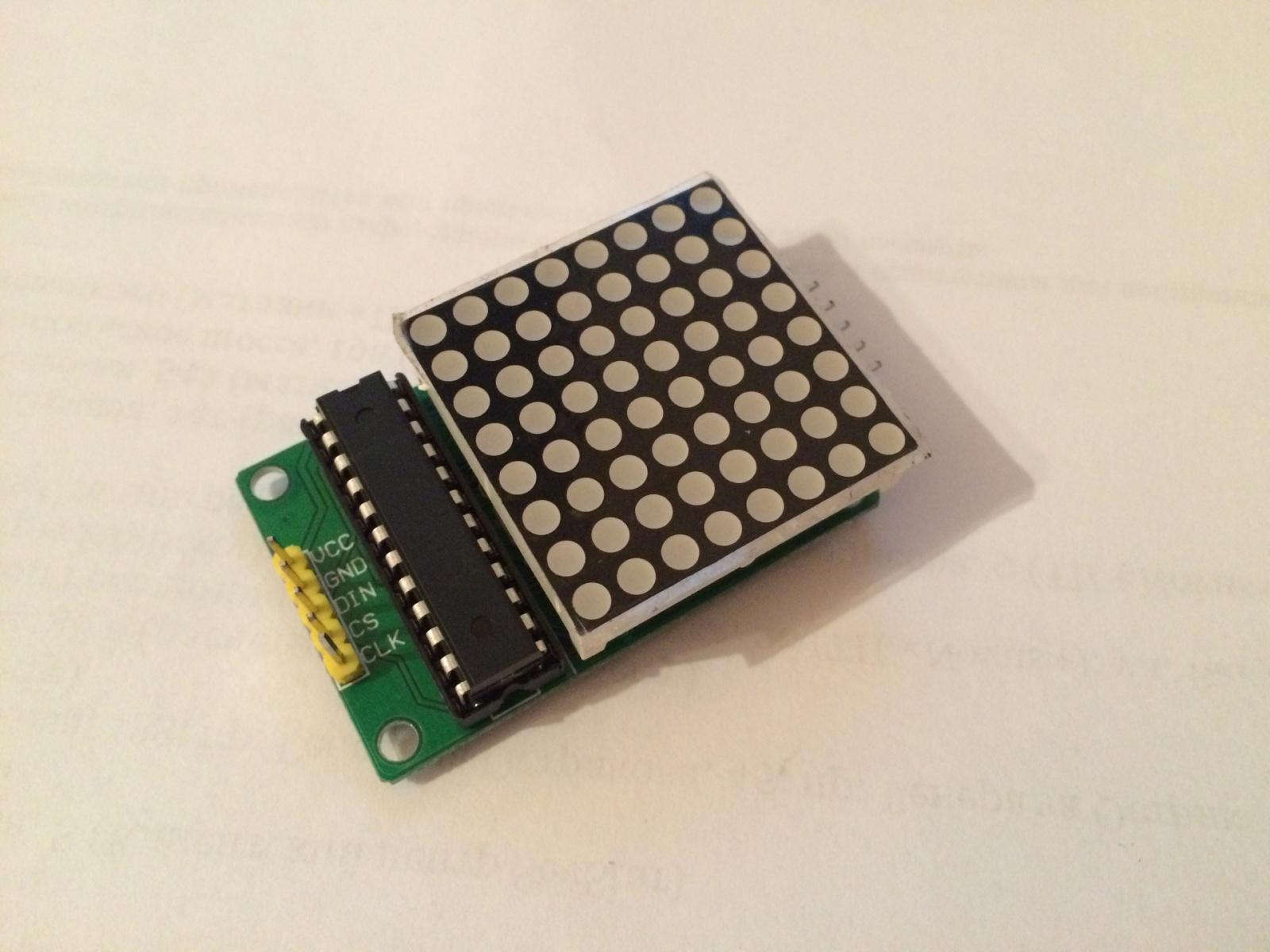 Подключаем светодиодную матрицу к Raspberry pi - 1