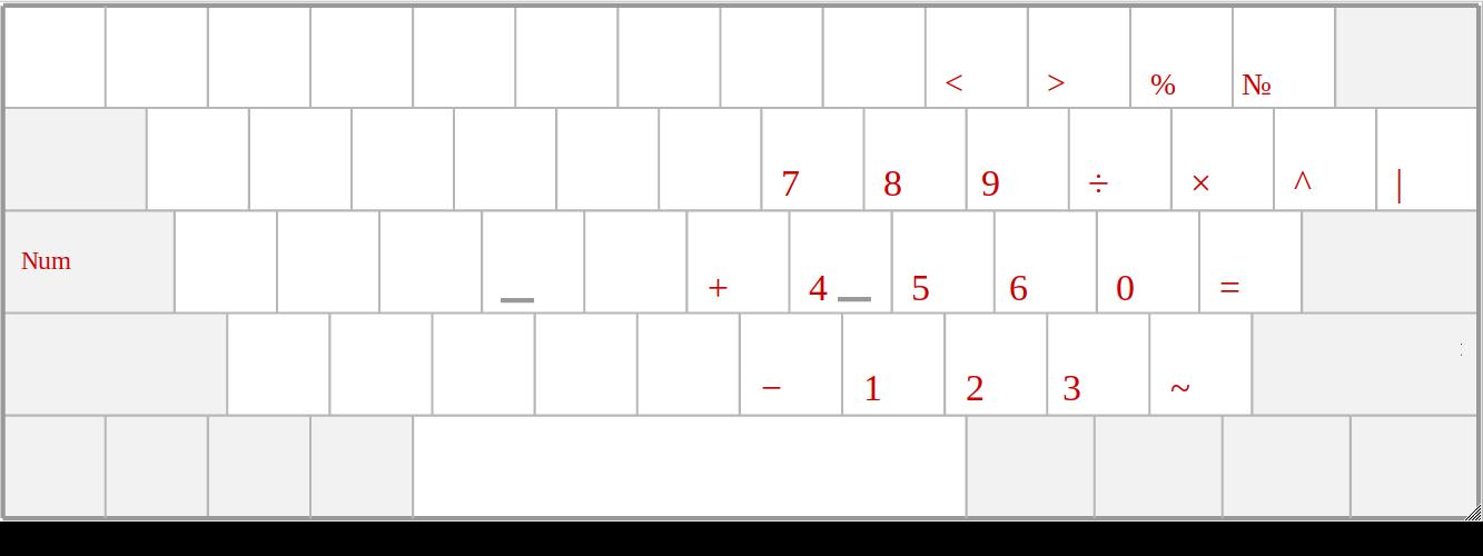 Раскладка клавиатуры - 2