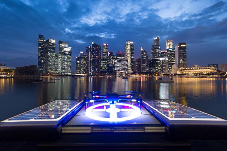Питание Dronebox получает от автономного источника — солнечной батареи