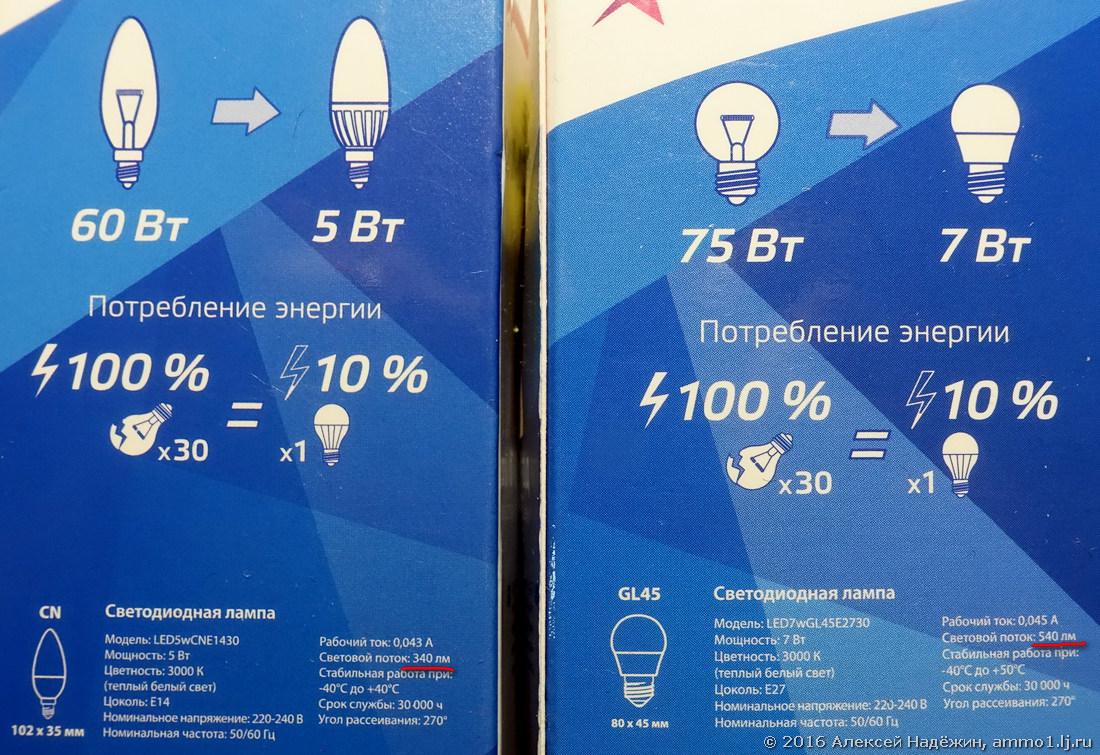Как производители светодиодных ламп обманывают покупателей - 5