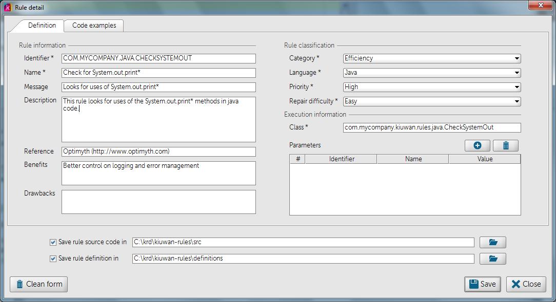 Написание кастомных правил для анализатора кода Kiuwan - 4