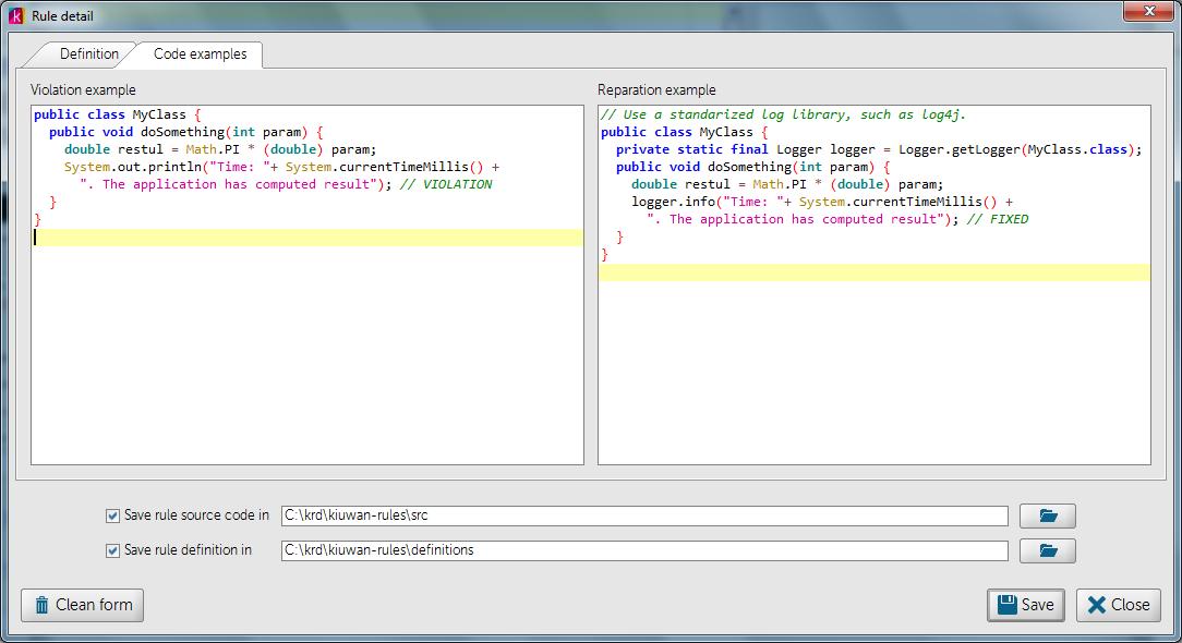 Написание кастомных правил для анализатора кода Kiuwan - 5