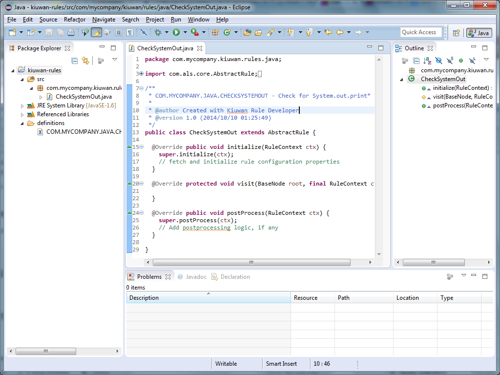 Написание кастомных правил для анализатора кода Kiuwan - 6