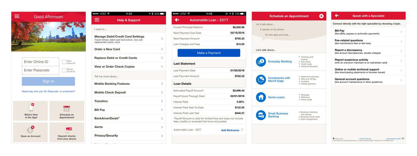 Редизайн приложения Bank of America: концепт - 3