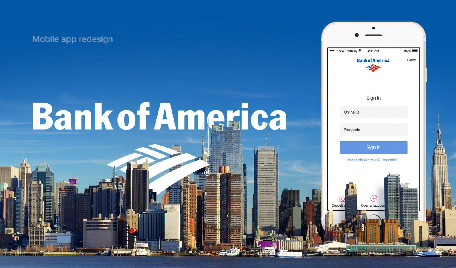 Редизайн приложения Bank of America: концепт - 1