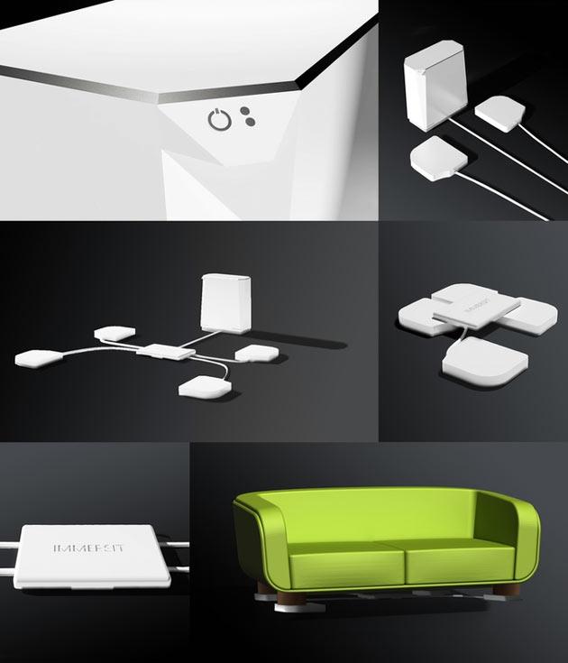 Устройство Immersit совместимо с ПК, консолями X-Box One, X-Box 360, Playstation 3 и 4
