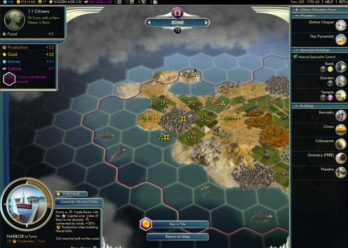 «Цивилизации» исполнилось 25 лет: 33 млн копий игры продано, 1 млрд игровых часов, 66 версий игры - 2