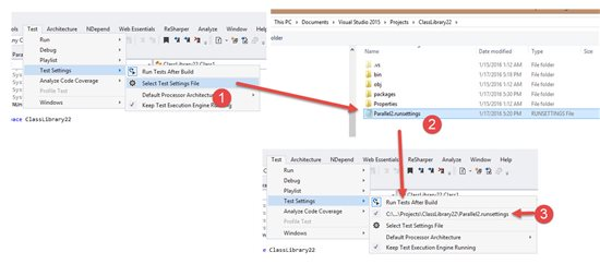 Параллельное выполнение тестов с учетом контекста с использованием Visual Studio 2015 Update 1 - 3