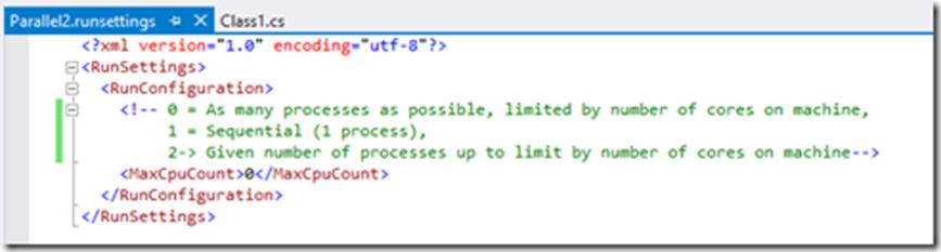 Параллельное выполнение тестов с учетом контекста с использованием Visual Studio 2015 Update 1 - 4